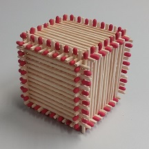 Match cube, only frame