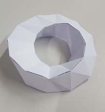Developable surface of a moebius strip made of paper