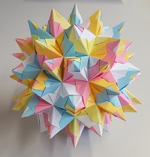 Stellated Rhombicosidodecahedron made of paper