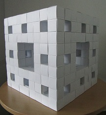 Menger Sponge made of paper, no glue was used.